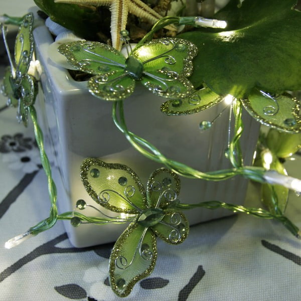 Girlanda świetlna Butterflies 120 cm, zielona