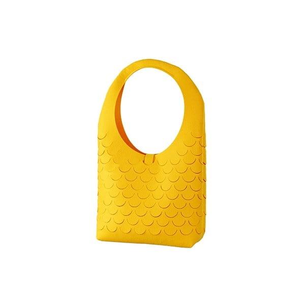Filcowa torebka, żółta