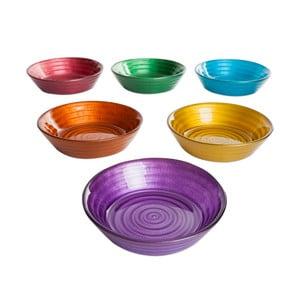 Zestaw 6 kolorowych misek szklanych Mezzo, ⌀ 12 cm