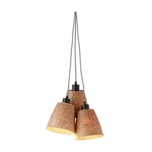 Lampa wisząca ze ścieru drzewnego z 3 kloszami Good&Mojo Sequoia