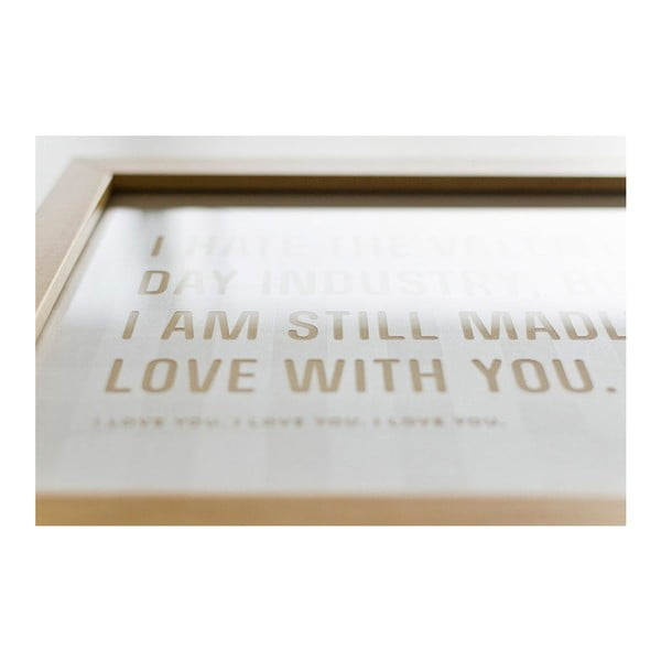 Plakat  I hate Valentines day White, 18x24 cm
