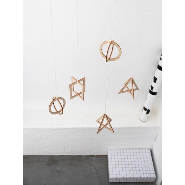 Zestaw  3 wiszących dekoracji trójwymiarowych SNUG.Trio