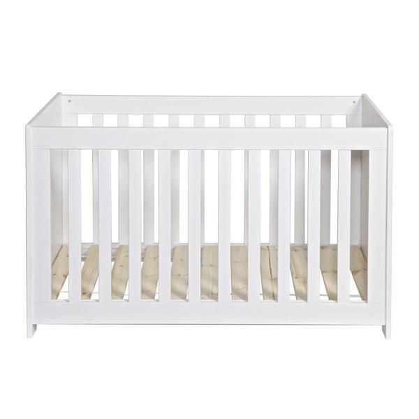 Białe łóżeczko dziecięce New Life