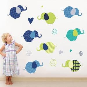 Naklejka na ścianę Słoniki, 50x70 cm