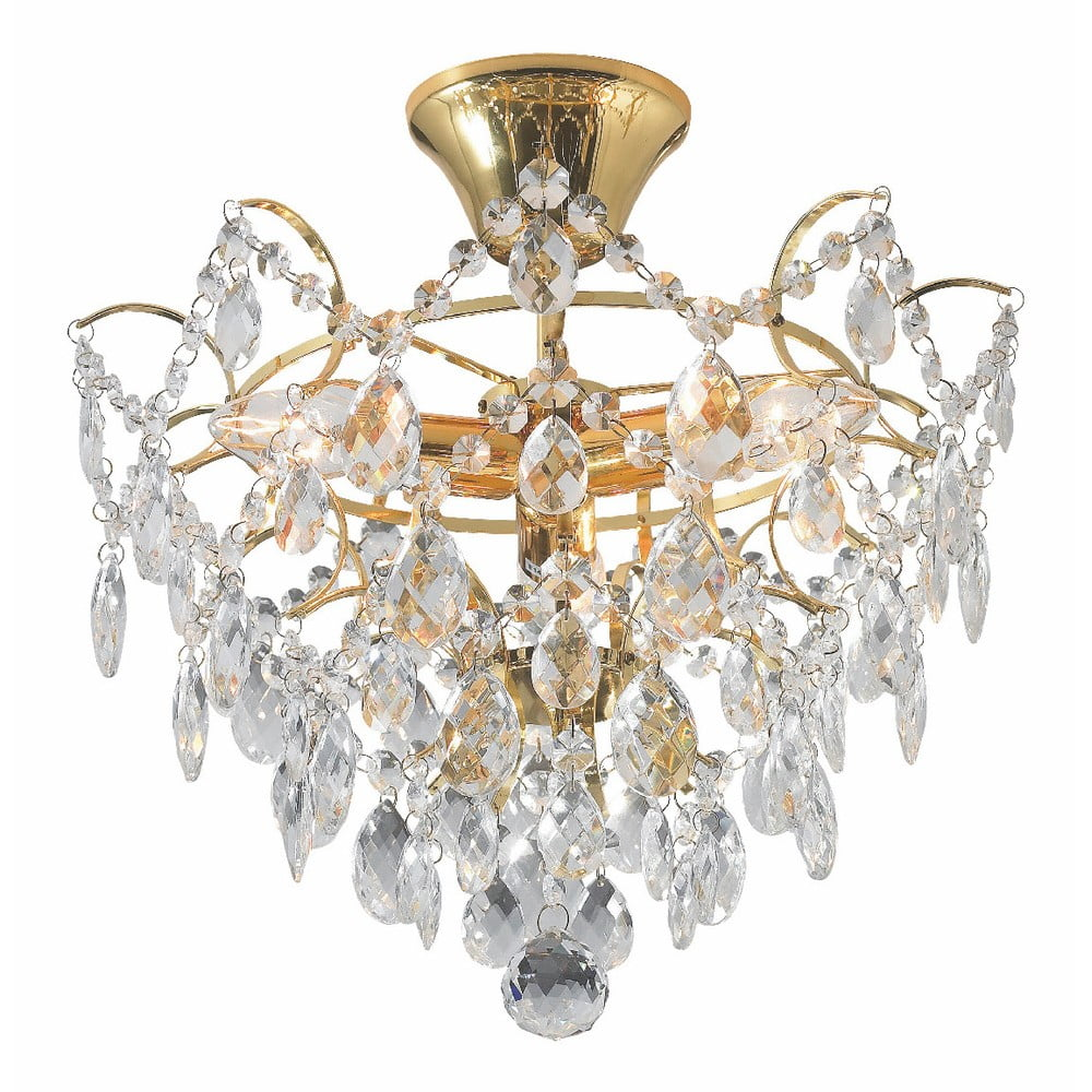 Lampa wisząca w złotym kolorze Markslöjd Rosendal, ø 36 cm