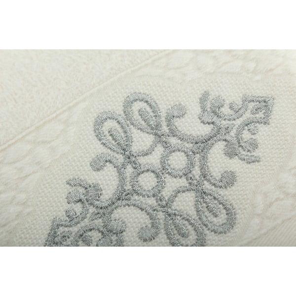 Komplet 2 ręczników Isle Cream Silver, 30x50 cm/50x90 cm