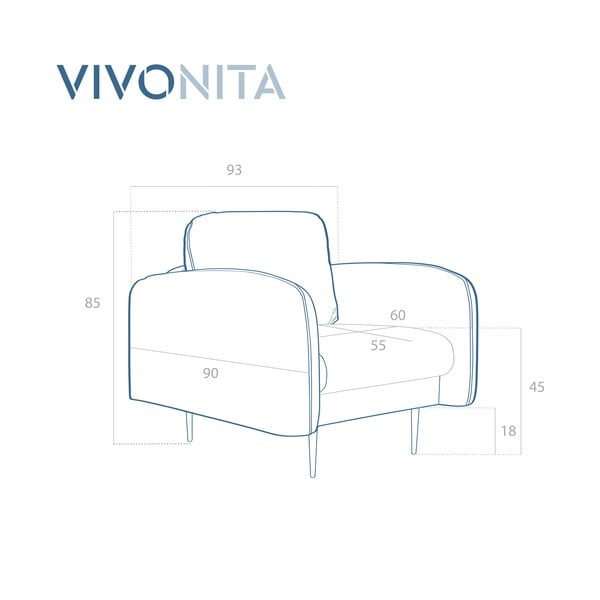 Fioletowy fotel Vivonita Skolm