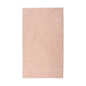 Różowy dywan Floorist Waves, 80x300 cm