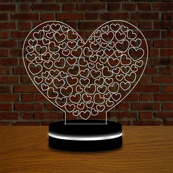 Lampa z efektem 3D Love