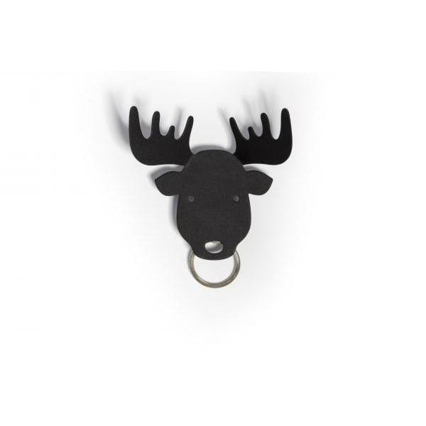 Wieszak na klucze QUALY Moose Key Holder, czarny