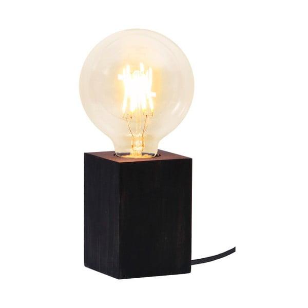 Czarna lampa drewniana Best Season Lys