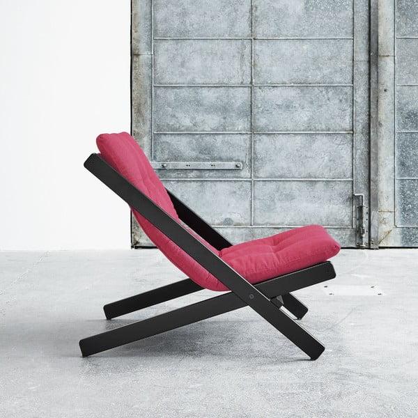 Fotel składany Karup Boogie Black/Magenta