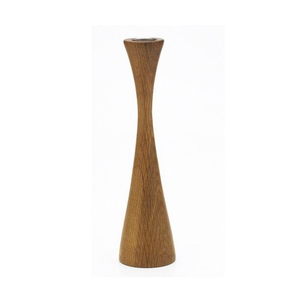 Świecznik Asta, kolekcja Oak sister, ciemne drewno