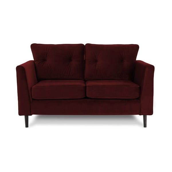 Ciemnoczerwona sofa dwuosobowa VIVONITA Portobello