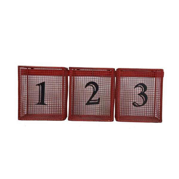 Koszyki naścienne Red Numbers