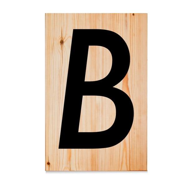 Drewniana tabliczka Letters B