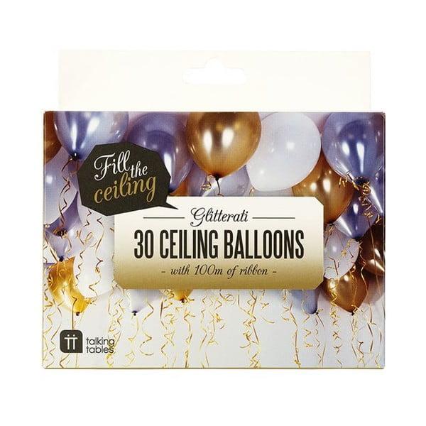 Zestaw 30 baloników Talking Tables Balloons & Curling Ribbon
