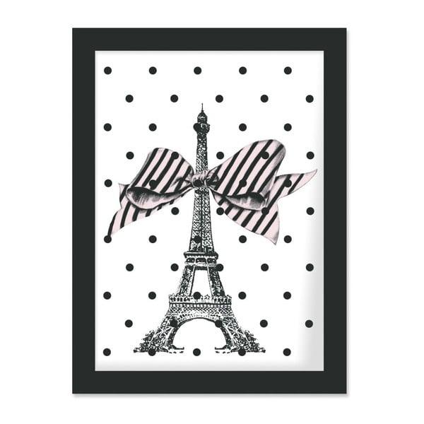 Plakat w ramie Eiffel and Dots, 30x40 cm