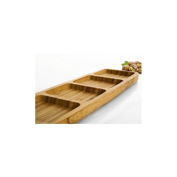 Bambusowy półmisek do serwowania przekąsek Bambum Ganberi