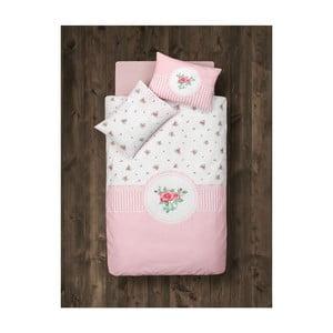 Komplet pościeli dziecięcej z ochraniaczem do łóżeczka Lovely Rose