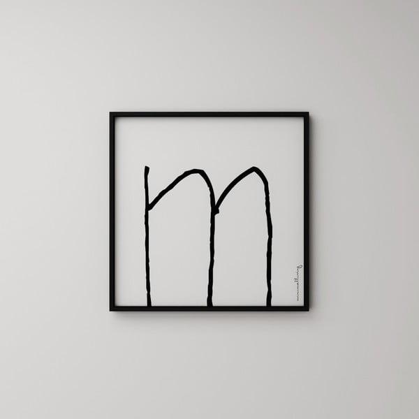 Plakat Litera M, 50x50 cm