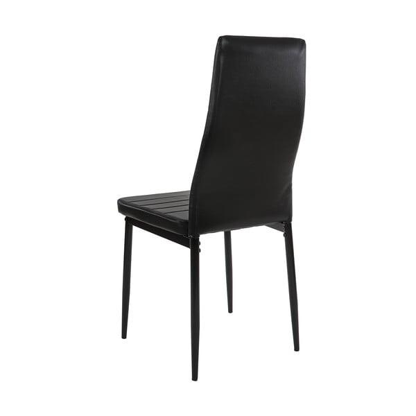 Komplet 4 czarnych krzeseł do jadalni Mendler Lamego