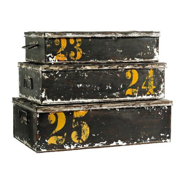 Zestaw 3 pojemników Antique Black
