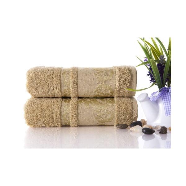 Zestaw 2 ręczników Antik Gold Mustard Color, 50x90 cm
