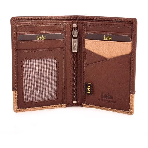 Skórzany portfel Lois Wood, 11x8 cm
