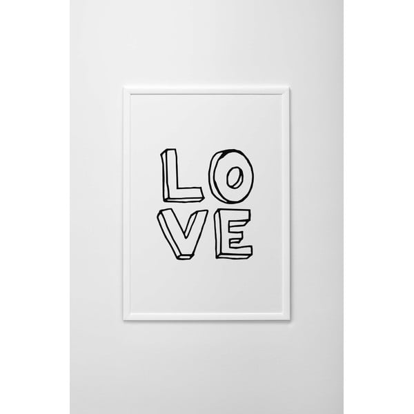 Plakat autorski Written Love, A3
