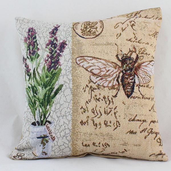Poszewka na poduszkę Dakls Lavender Bee, 40x40 cm