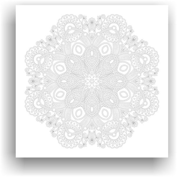 Obraz do kolorowania 100, 50x50 cm