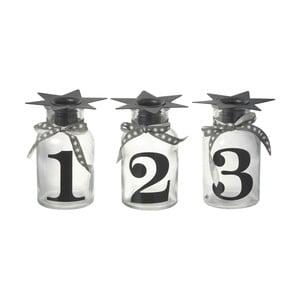 Zestaw 3 swieczników Parlane Numbers