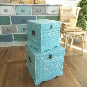 Zestaw 2 pudełek Antique Blue