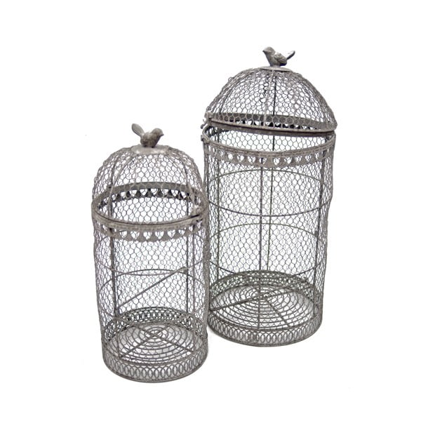 Zestaw 2 klatek dekoracyjnych Birdcage
