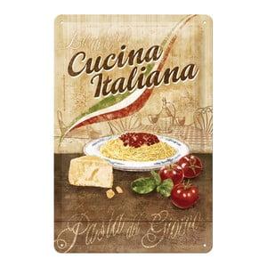Tabliczka blaszana Cuccina Italiana, 20x30 cm