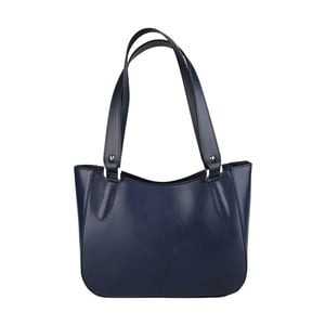 Niebieska torebka skórzana Chicca Borse Sandrine