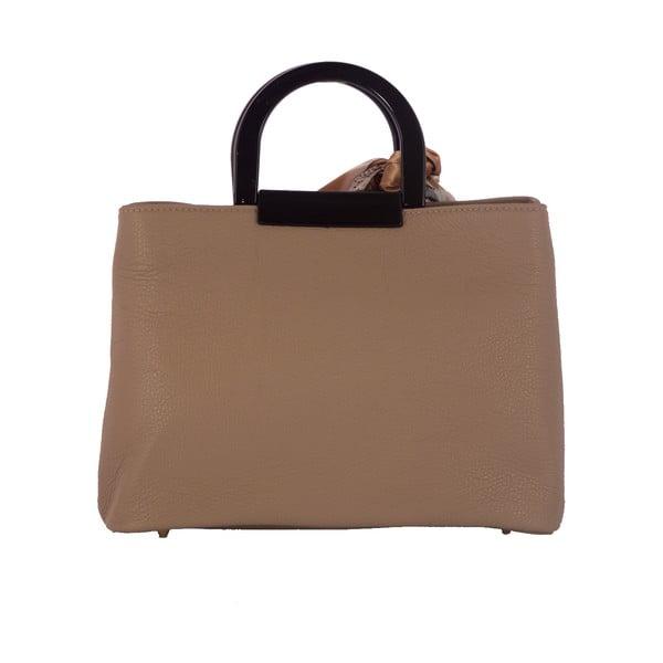 Beżowa torebka skórzana Andrea Cardone Angelo