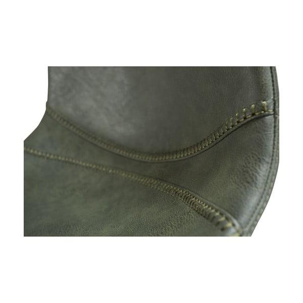 Zestaw 2 zielonych hokerów z czarnym metalowymi nogami DAN– FORM Pitch
