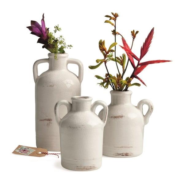 Wazon ceramiczny Sil White, 20x10 cm