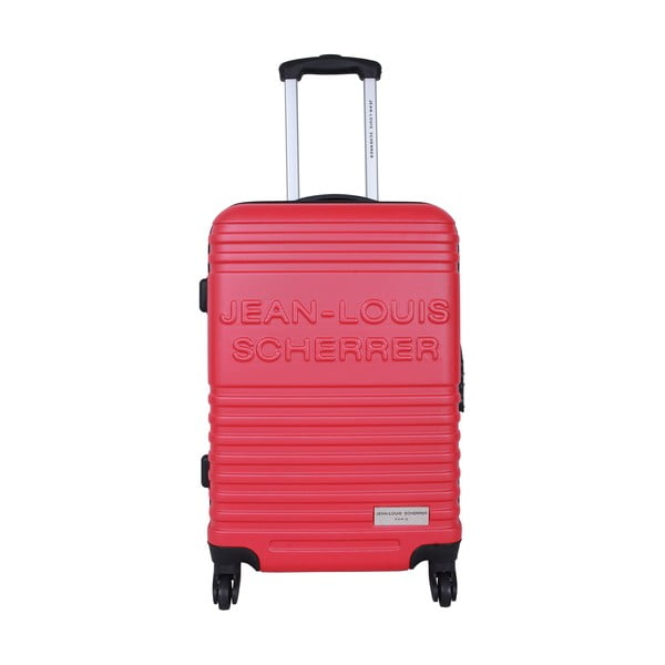 Zestaw 3 walizek Jean Louis Scherrer Trolley Red