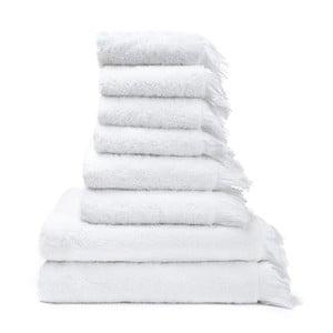 Zestaw 8 białych ręczników i ręczników kąpielowych Casa Di Bassi Bath