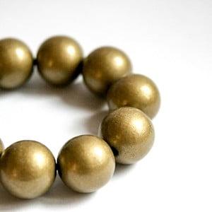 Złota bransoletka drewniana Ko–ra–le Bubbles