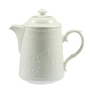 Biały dzbanek porcelanowy do herbaty Santiago Pons Lace