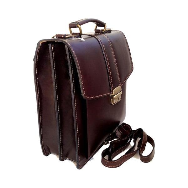Skórzana torba Barolo, ciemnobrązowa