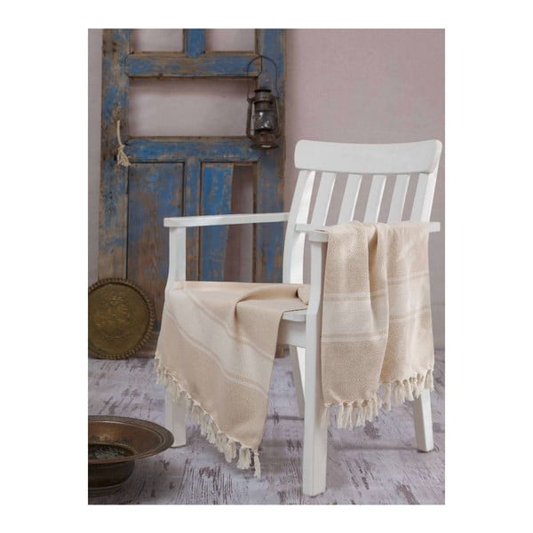 Ręcznik hammam Elmas Light Brown, 100x180 cm