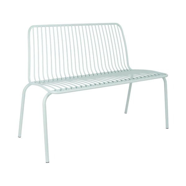 Miętowe ławka odpowiednie na zewnątrz Leitmotiv Lineate