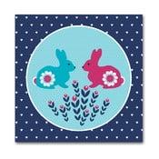 Plakat Spotkanie królików