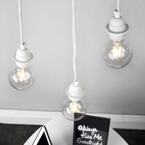 Biała potrójna lampa wisząca Bulb Attack Uno Primary