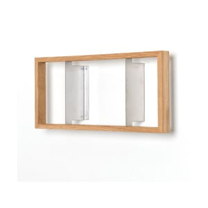 Półka na książki z drewna dębowego das kleine b b2, 22x50,5 cm